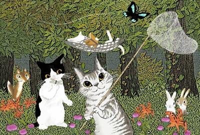 猫友日めくりカレンダー8月の扉絵